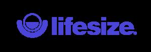 Logo rectangulaire et bleu de Lifesize