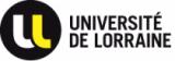 """Des guillemets blanches et jaunes dans un cercle noir précèdent le nom """"université de Lorraine"""